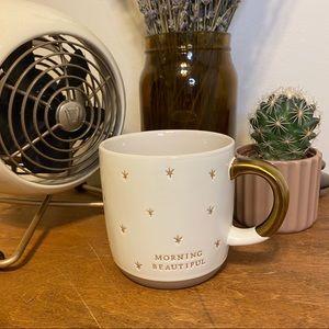 Hearth & Hand Morning Beautiful Gold Star Mug